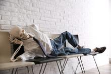 Human Skeleton In Office Wear ...