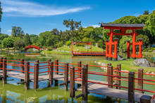 Buenos Aires Japanese Gardens, A Public Space Administered By A Non-profit Organization In Buenos Aires, Argentina. One Of The Largest Japanese Gardens In The World Outside Japan.