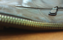 Fragment Of Leather Bag With Z...