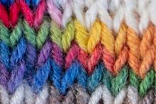 Rainbow Knitting Stitches Background