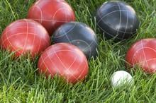 Closeup Of Colourful Bocce Bal...