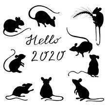 Set With The Image Of Field Mice