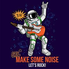 Rock Star Astronaut Play Rock ...