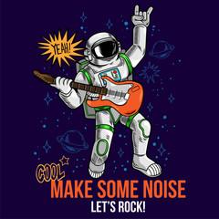 rock star astronaut play rock music