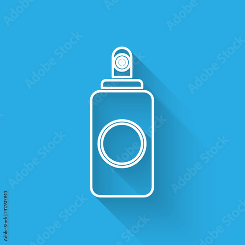 White line Spray can for air freshener, hairspray, deodorant, antiperspirant icon isolated with long shadow Wallpaper Mural