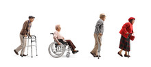 Group Of Senior People Walking...