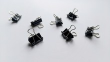 Binder Clips Isolated On White...