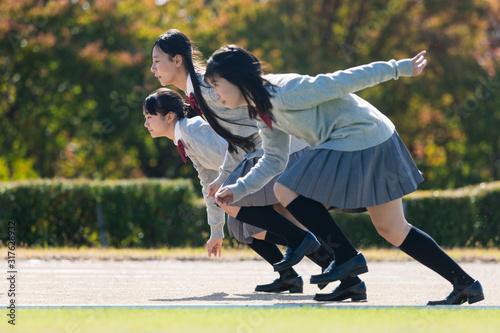 Photo 走る高校生