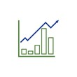 growing graph icon vector illustration design template