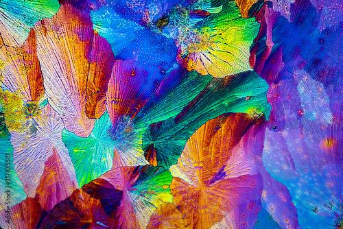 Photo Extreme macro photograph of Paracetamol crystals forming abstract modern art pat