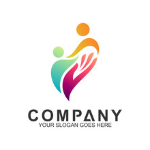 People Care Logo,Abstract Family Logo