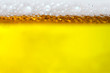 canvas print picture - Background Cool beers with beer bubbles on top a glass at the party