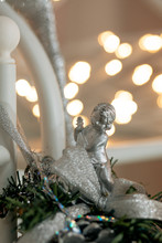 Figure  Silver Shiny Angel Aga...