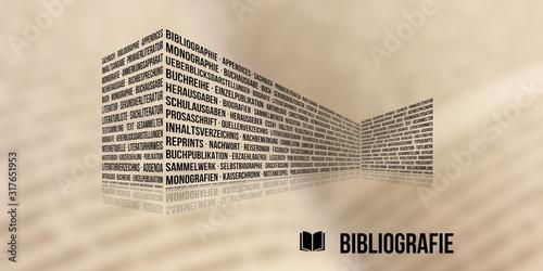 Bibliografie Canvas Print