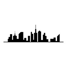 City Skyline Vector Silhouette