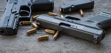 Gun On Wood