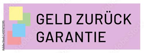 Geld zurück Garantie web Sticker Button Canvas Print