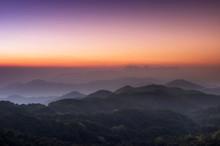 Morning View Of Doi Luang Chiang Dao From The Beautiful Doi Kham Fa Viewpoint, Pha Daeng National Park, Chiang Mai Province.