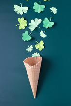 St. Patrick's Day, Waffle Cone...
