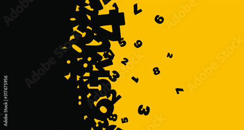Photo Creative and modern background with numbers.