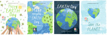 Happy Earth Day! Vector Eco Il...