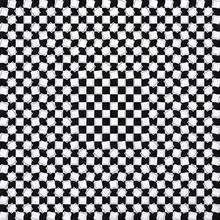 3d Geometric Black, White Squa...