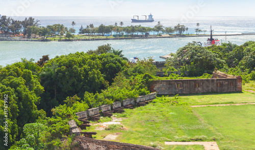 Dominican Republic. Old colonial fortification #317679162