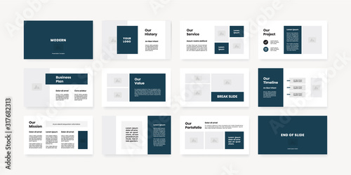minimal style powerpoint slides template Canvas Print