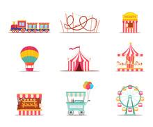 Amusement Park Attractions Ill...