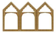 Triple Golden Gothic Frame (tr...