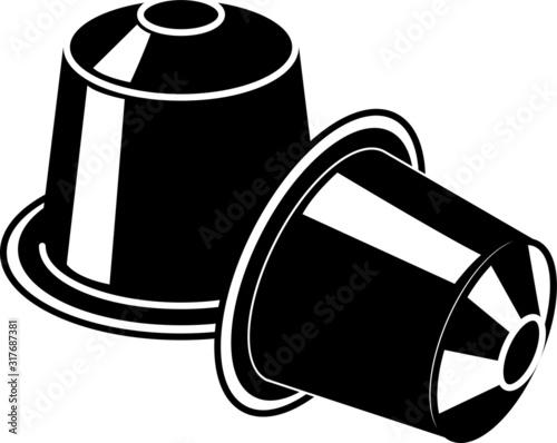 Fotografia coffee capsule icon - vector illustration.
