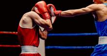 Boxer Lands Left Jab To Head T...
