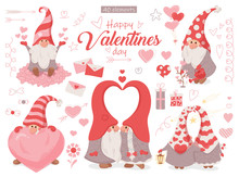 Set Of Vector Elements. Valentine's Day
