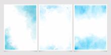 Blue Watercolor Wash Splash Wi...