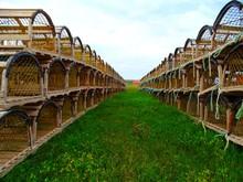 North America, Canada, Province Of Quebec, Magdelen Islands, Wooden Lobster Cages