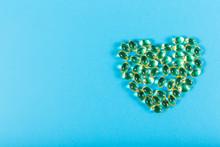 Heart Shaped Fish Oil Capsules...
