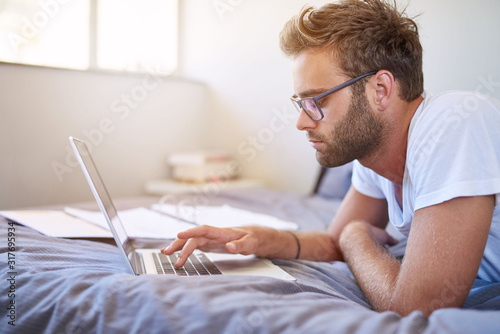 Wireless lets him get work done anytime and anywhere Canvas Print