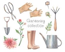 Watercolor Gardening Collectio...