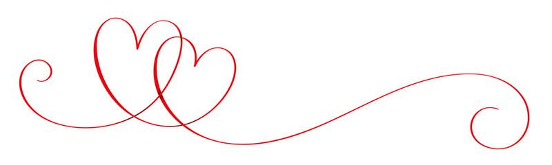 Naklejka Do sypialni Hand-Drawn Vector Interlocking Hearts With Copy Space