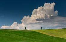 Landscape Shot Of A Green Hill...