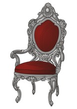 Vintage Chair For Luxury Party Vector #1015