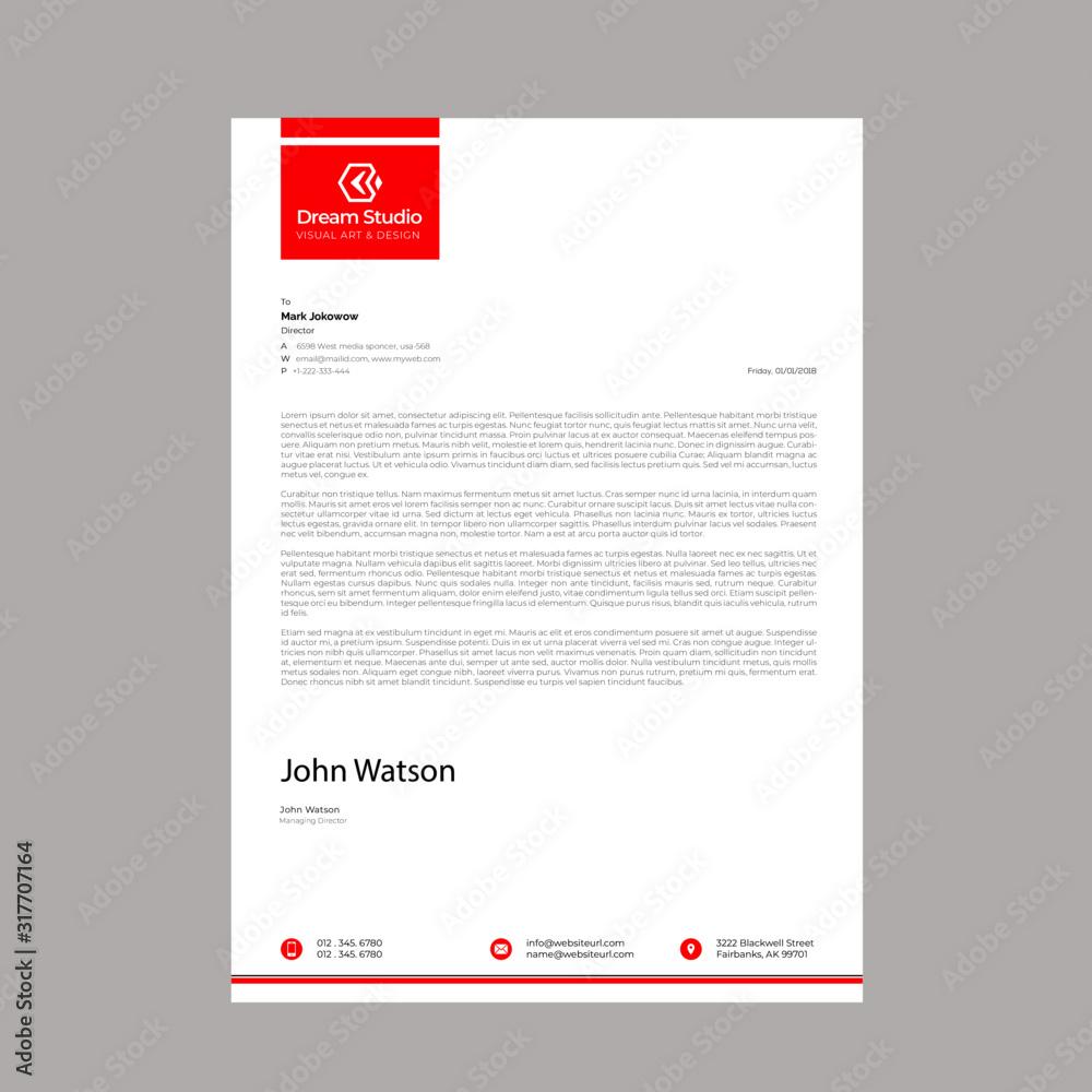 Fototapeta Modern Professional letterhead template design
