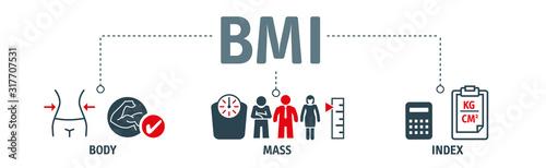 body mass index vector illustration concept Canvas Print