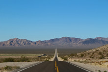 Lonely Road In Death Valley Na...
