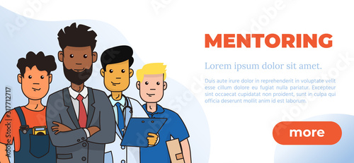 Mentoring Concept Vector Illustration. Idea of Coaching and Studying. Web Design Template. #317712717