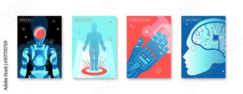 Future Technologies Four Posters Tableau sur Toile