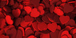 canvas print picture - Red hearts background