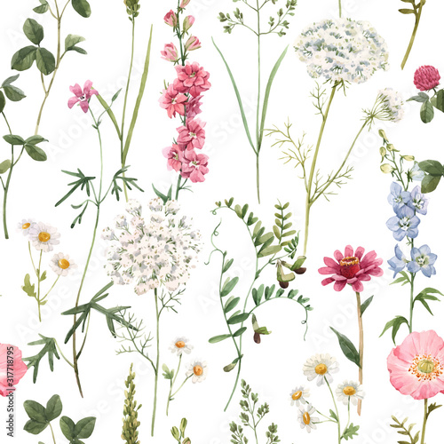 Tapety do Garderoby  beautiful-vector-floral-summer-seamless-pattern-with-watercolor-hand-drawn-field-wild-flowers