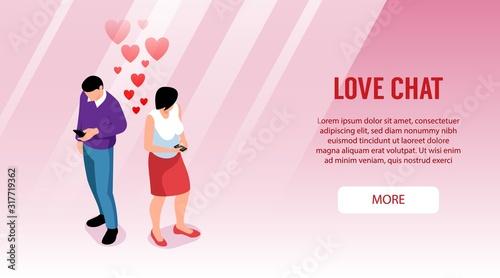 Fotografia Love Chat Horizontal Banner