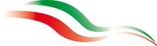 Italian Flag, Tricolor, Styliz...